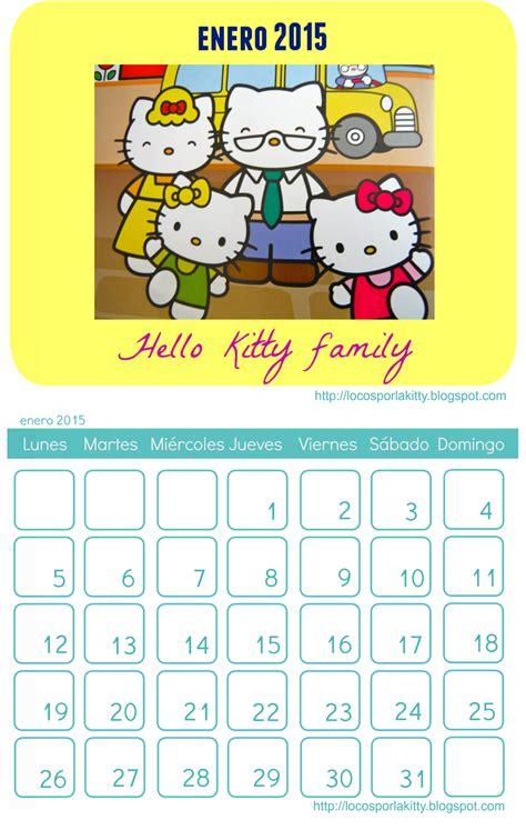 imagenes calendario octubre 2015 calendario completo hello kitty 2015 para imprimir locos