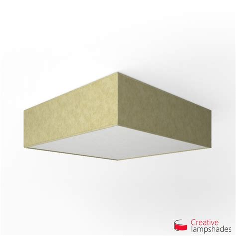 Square Light Cover by Square Ceiling L With Light Yellow Parchment Cover