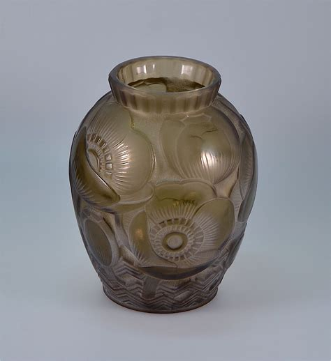 Scarab Vase by D Avesn Deco Moulded Vase From Scarab