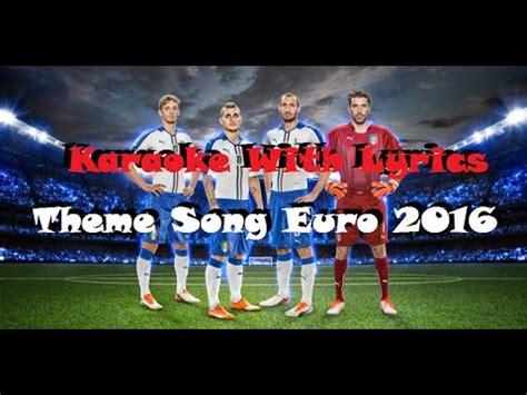 theme song euro 2016 this one for you karaoke version david guetta theme