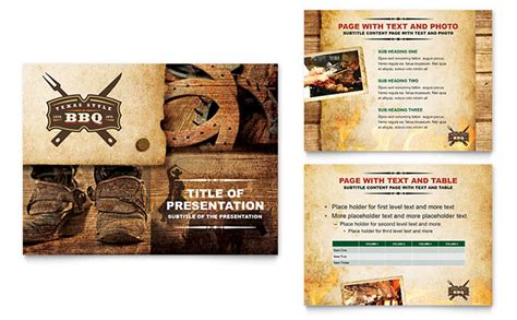 powerpoint design menu steakhouse bbq restaurant powerpoint presentation template