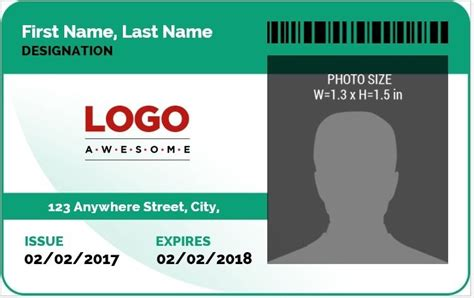 work id card template employee card template word the best letter sle