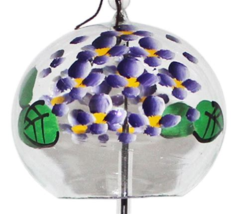 Handmade Glass Wind Chimes - japanese handmade glass wind chime with paintings of