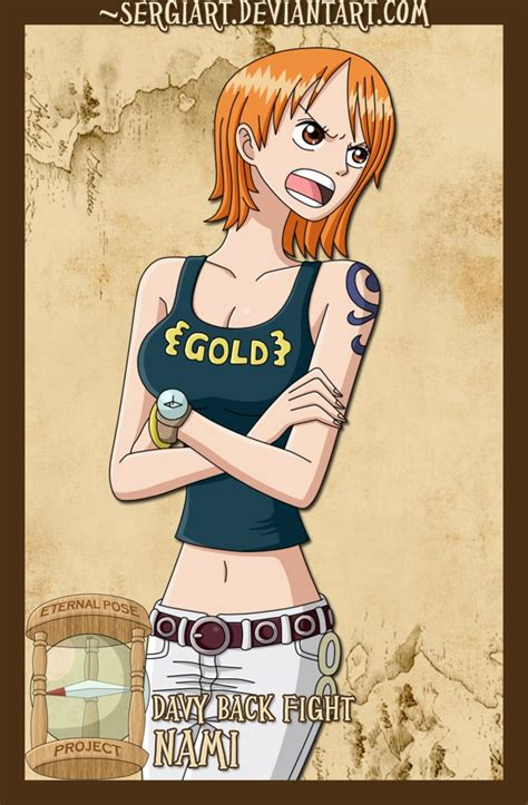 One Styling Gold 1 Usopp epp davy back fight nami by sergiart on deviantart