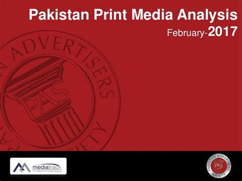 Media Analysis Of The 2017 Print Media Analysis February 2017