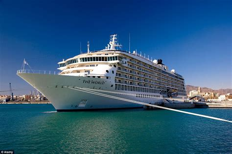 biggest private ships in the world the world allows passengers to live on a cruise ship year