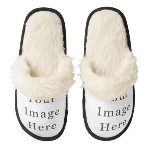 customize your own slippers create your own custom template pair of fuzzy slippers