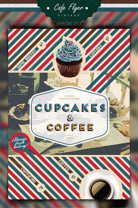 cupcake flyer design psd  design trends