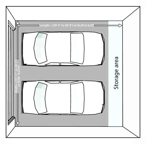 two car garage dimensions size and layout specifics for a 2 car garage garage