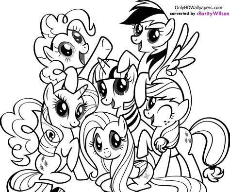 My Little Pony Coloring Pages Team Colors My Pony Colouring Pages To Print