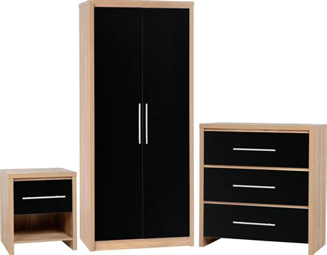 black and oak bedroom furniture seconique plc product info
