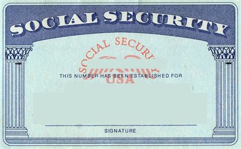 Social Security Card Template Peerpex Blank Social Security Card Template