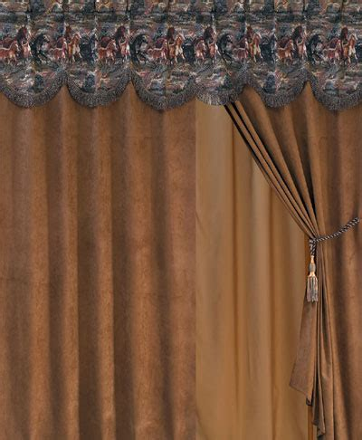 horse drapes running horse western drapes curtains and valances