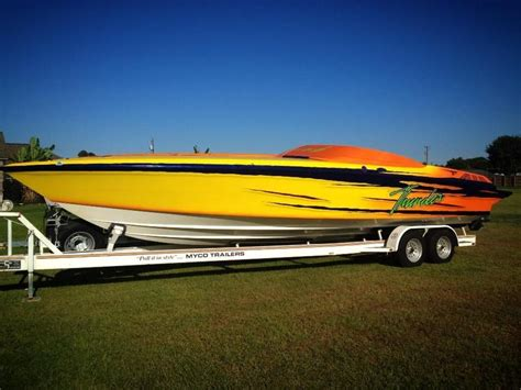 fast yellow boat 1992 wellcraft scarab thunder powerboat for sale in louisiana
