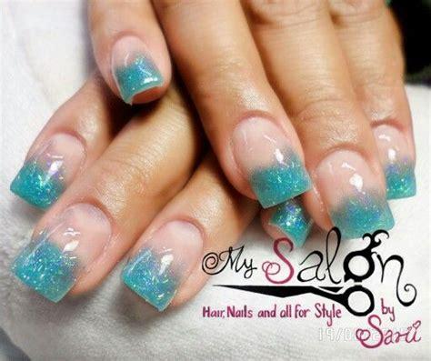 imagenes de uñas de acrilico color turquesa u 241 as acrilicas azul turquesa con leopardo
