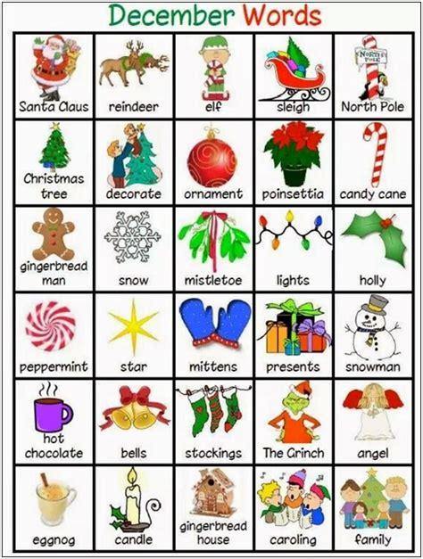 imagenes en ingles de objetos christmas is coming kit de navidad para nuestros alumnos