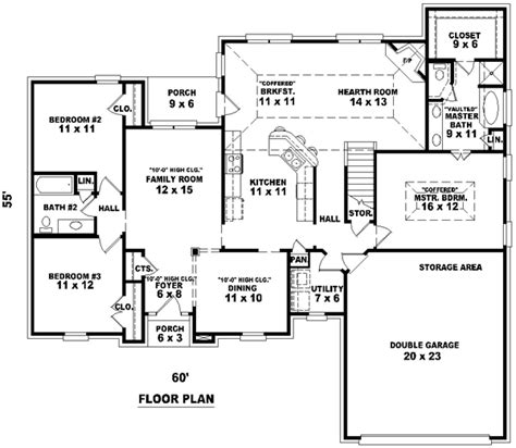1900 house plans traditional style house plans 1900 square foot home 1