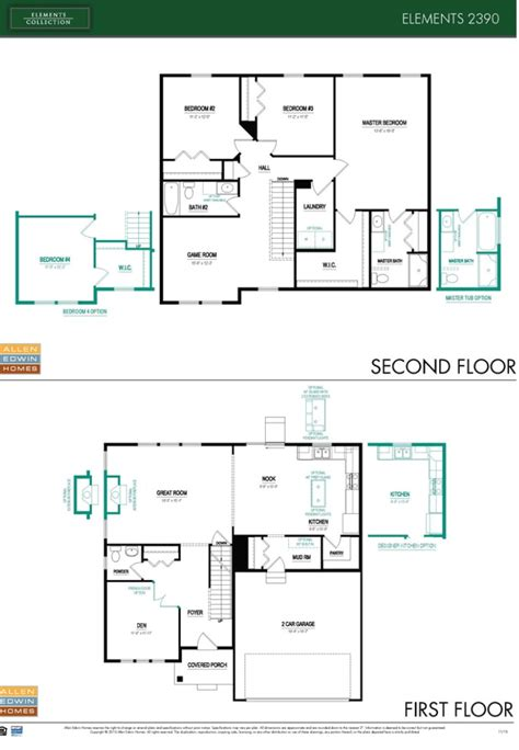 floor plan elements the woods at river ridge by allen edwin homes the new