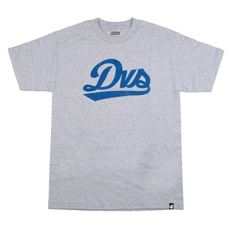 T Shirt Dvs 01 dvs league script s t shirt grey skateamerica