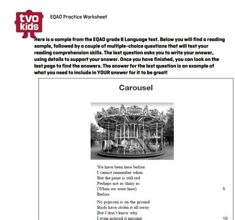 printable eqao practice sheets grade 6 13 best images about eqao grade 6 on pinterest