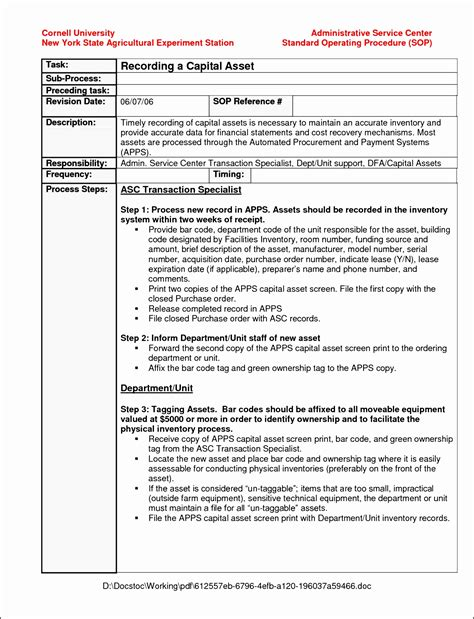 sop template word data administrator sle resume it