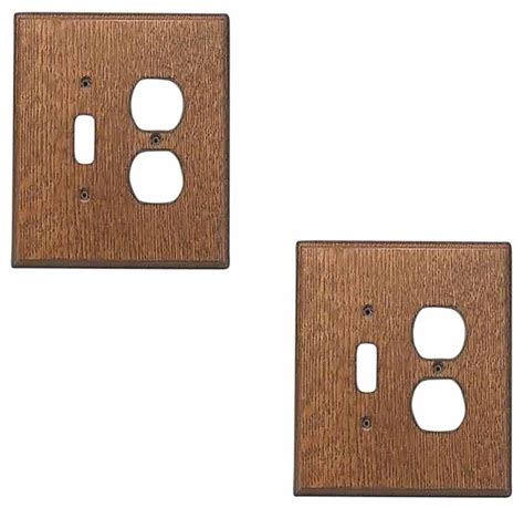 2 switchplate oak toggle outlet transitional switch plates and outlet covers by renovator