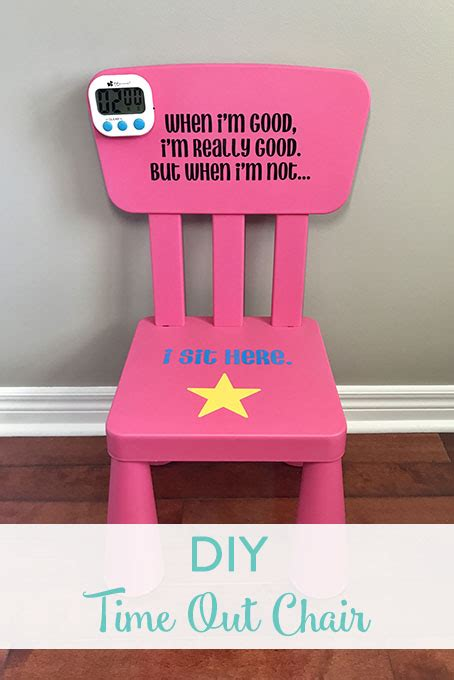 time out chair with timer diy time out chair the inspired home