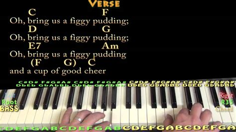 merry christmas piano cover lesson    chordslyrics youtube