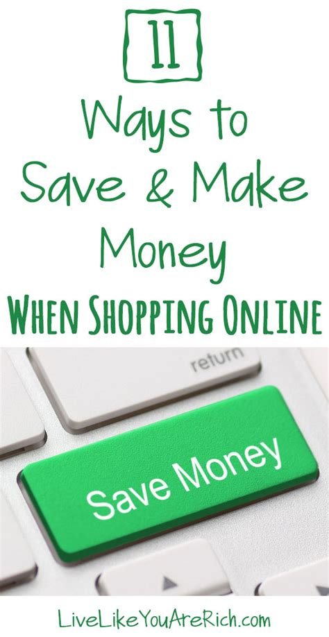 How To Make Money Shopping Online - 11 ways to save and make money when shopping online live like you are rich