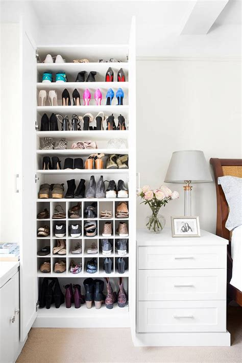 california closets shoe closet makeover domino