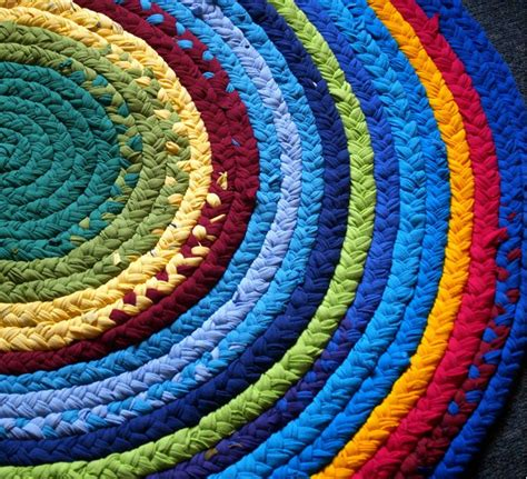 Rainbow Rag Rug by Rainbow Brightly Colored Rag Rug Handmade With Recycled T
