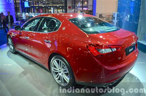 maserati ghibli red 2015 2016 maserati ghibli rear three quarter at the iaa 2015