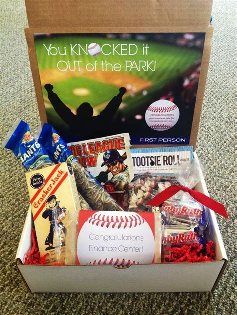 themed gift box quot you knocked it out of the park quot baseball themed gift box