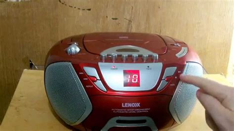 cassette and cd player lenoxx cd815r cd radio cassette player recorder