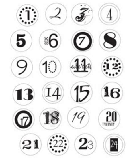 printable numbers 1 24 233 tiquette calendrier de l avant noel pinterest avent