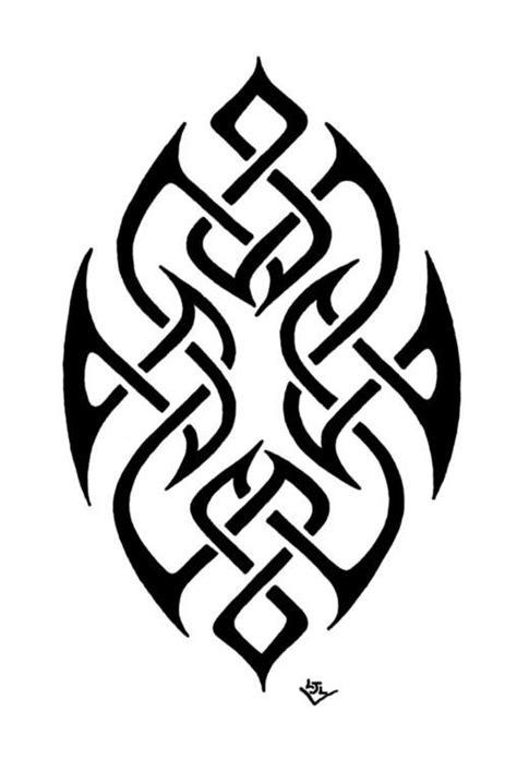 Iring Tribal dribbble celtic knot pattern