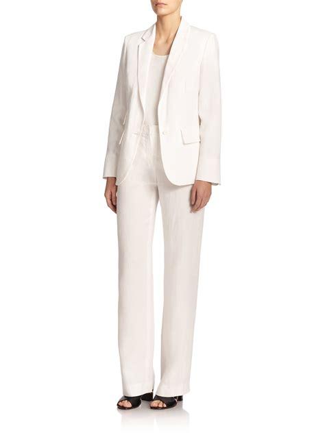 White Smock Jacket by Max Mara Apogeo Smock Back Linen Jacket In White Lyst