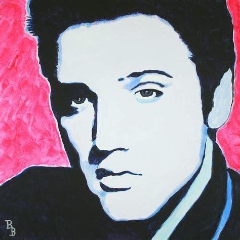 Elvis Presley Pop Art Painting   elvis presley crimson pop art painting by bob baker