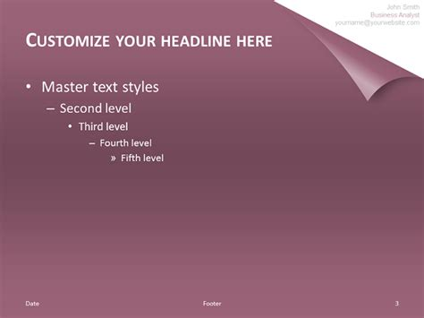 Turn The Page Template For Powerpoint Purple Page Turning Effect In Powerpoint