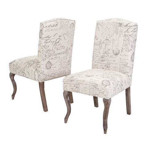 Furniture dining room with fabric parsons chair