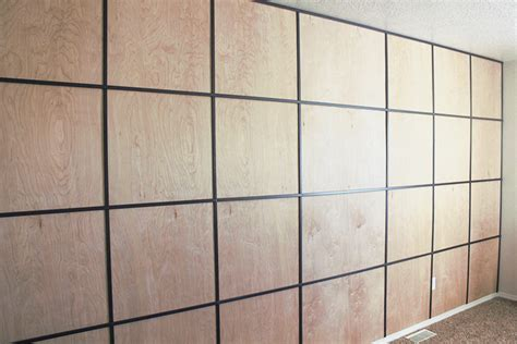 anyone can decorate diy d wood panel wall master easy diy plywood panel wall on a budget