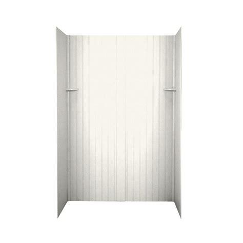swanstone beadboard shop swanstone tahiti ivory solid surface shower wall