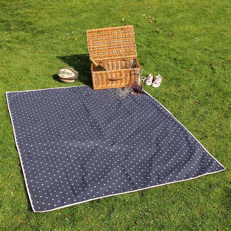 big picnic rug large navy polka dot picnic rug by just a notonthehighstreet