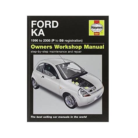 haynes manual ford ka 2003 2008 52 to 58 haynes workshop manual for ford ka