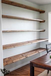 Open Wall Shelves by Diy Dining Room Open Shelving The Wood Grain Cottage