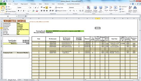 Journal Entry Template Excel by Improving Sap Journal Entry Processes Winshuttle Software