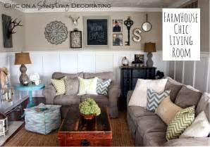 decorating my living room chic on a shoestring decorating my farmhouse chic living