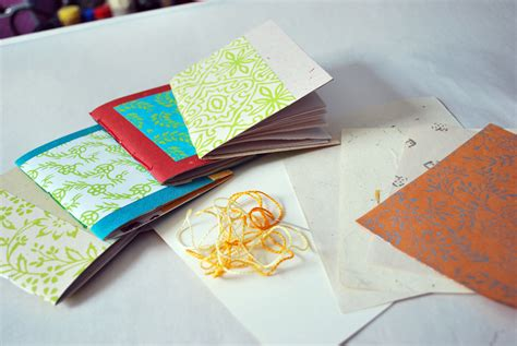 How To Make A Card With Paper - how to make notebooks from greeting cards makes pretty
