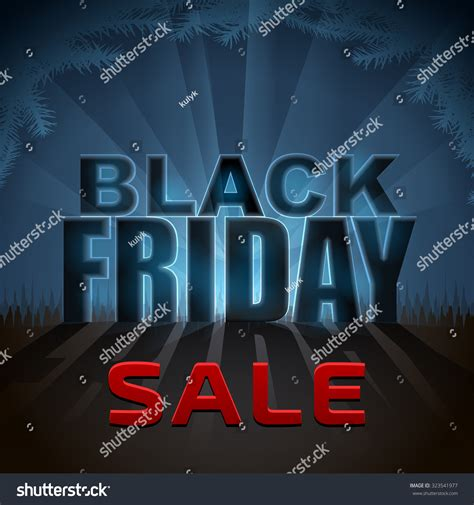 black friday sale element with back light effect design
