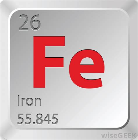 Symbol For Iron On Periodic Table by What Is Iron With Pictures